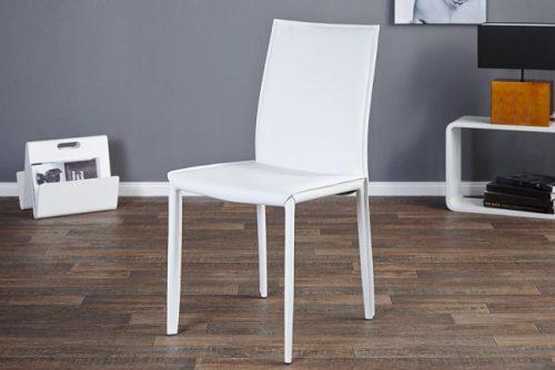 Ekskluzywne krzesło tapicerowane Milano White