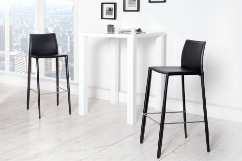 Hoker Milano czarny krzesło barowe
