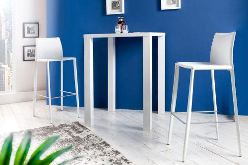 Hoker Milano White stołek barowy tapicerowany