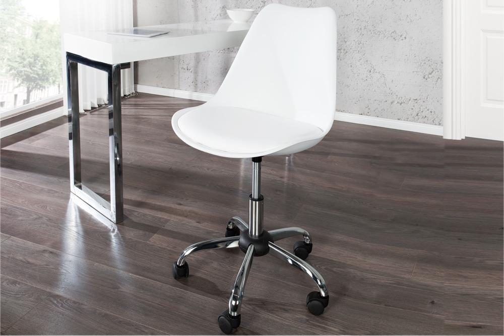 Chłodny Krzesło tapicerowane obrotowe w stylu retro, sztuczna skóra TI15