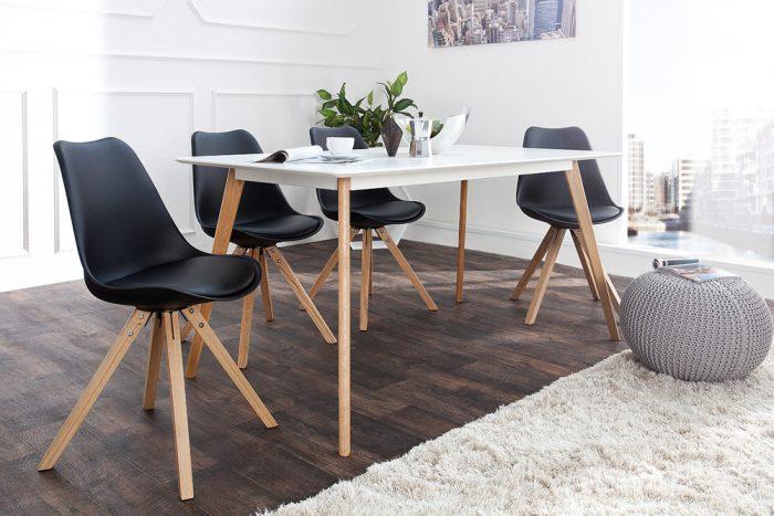 Krzesło Scandinavia Black tapicerowane
