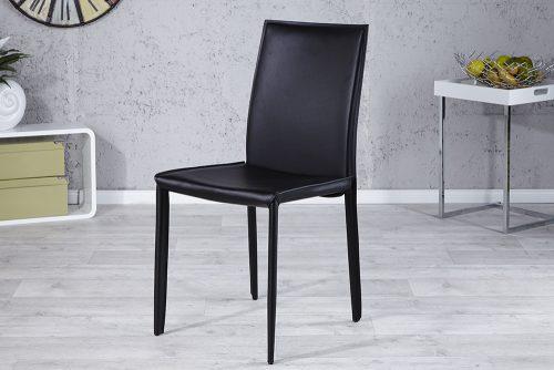 Ekskluzywne krzesło tapicerowane Milano Black