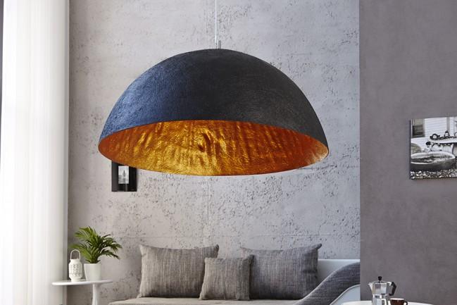 Nowoczesna czarna lampa wisząca GLOW 50cm
