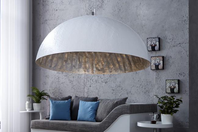 Nowoczesna srebrna lampa wisząca GLOW 50cm