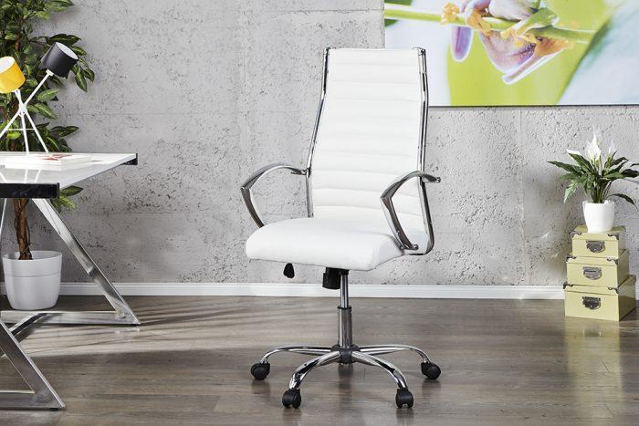 Designerski fotel biurowy Big Deal biały