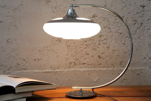 Elegancka lampa stołowa Luna Logo