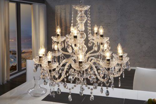 Żyrandol Royal Nowoczesny kryształowy 15 ramienny