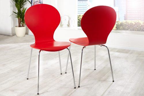 Krzesło do biura Form Red zestaw 4szt
