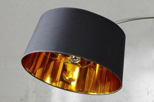 Ekstrawagancka lampa podłogowa Forma czarna