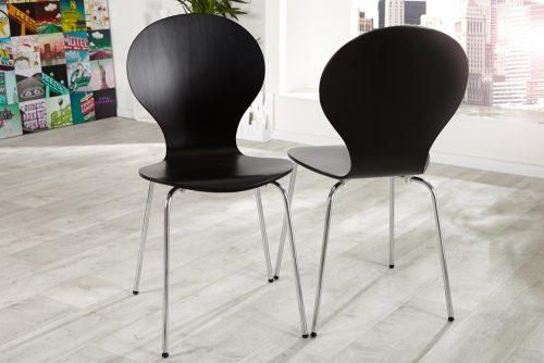 Krzesło do kuchni, jadalni Form Black zestaw 4szt