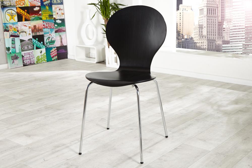 Krzesło Do Kuchni Jadalni Form Black Zestaw 4szt