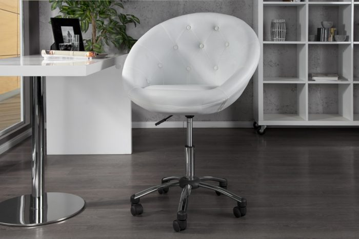 Fotel biurowy Couture White