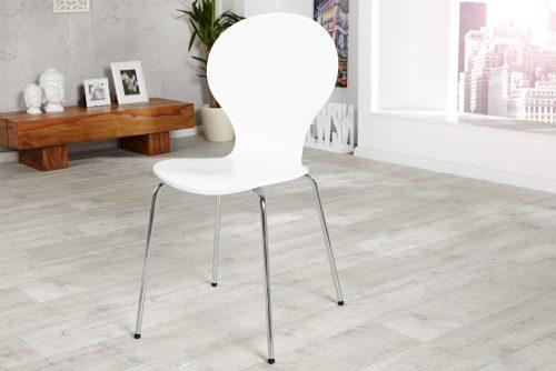Krzesło do biura Form White zestaw 4szt