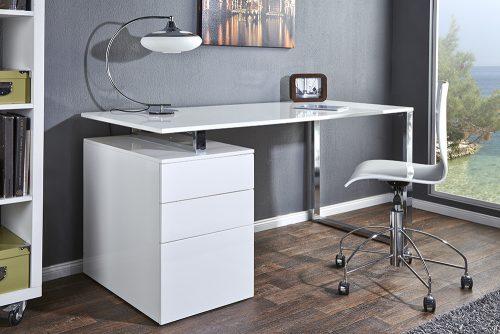 Ekskluzywne biurko Compact 160 cm biały połysk