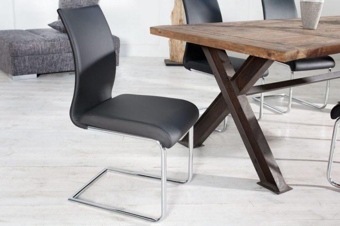 Nowoczesne krzesło na płozach Suave Black