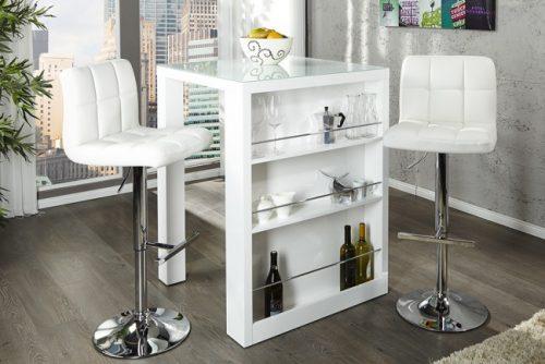 Nowoczesny stół barowy z półkami Easy