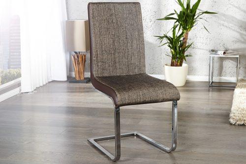 Stylowe krzesło na płozach Metropolis Cappuccino