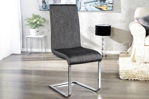Stylowe krzesło na płozach Metropolis Anthracite