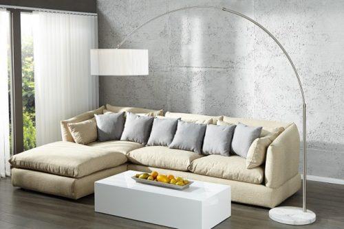 Nowoczesna lampa podłogowa Extenso biała