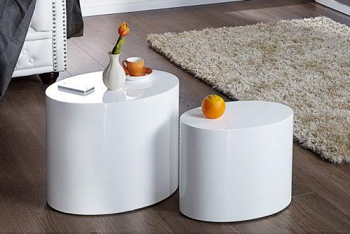 Zestaw 2 stolików DIVISION białe