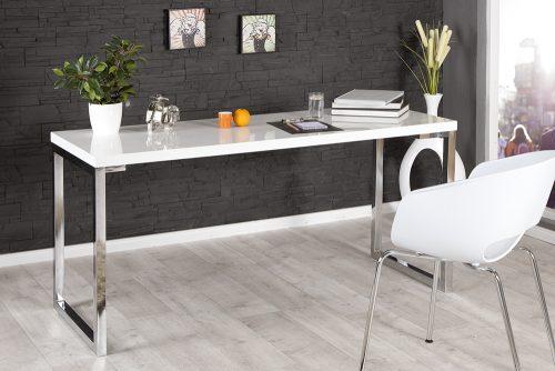 Nowoczesne biurko White Desk 160 cm biały połysk