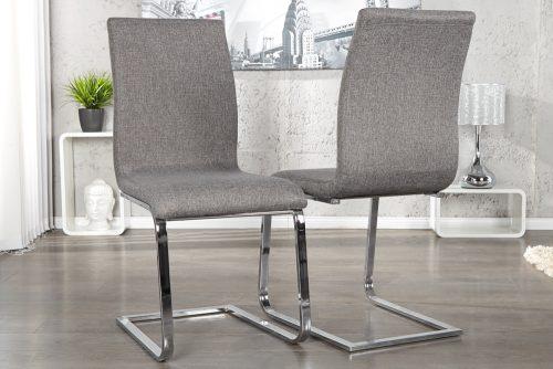 Ekskluzywne krzesło na płozach Hampton Gray