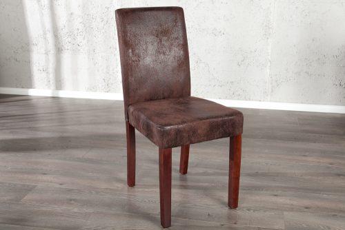 Krzesło tapicerowane z obiciem z eko skóry Genua Vintage