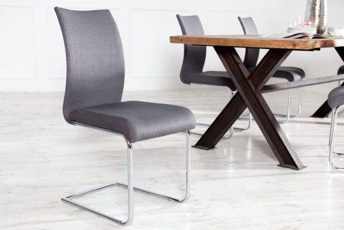 Stylowe krzesło na płozach Suave Anthracite