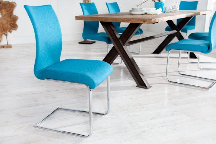 Nowoczesne krzesło na płozach Suave Blue