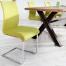 Nowoczesne krzesło na płozach Suave Lemon