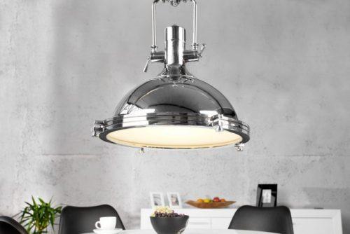 Lampa INDUSTRIAL 45 cm wisząca chrom industrialna przemysłowa