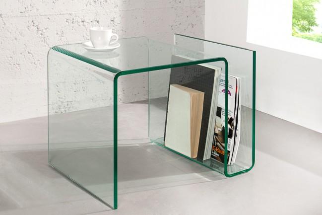 Szklany stolik FANTOME 50cm gazetnik