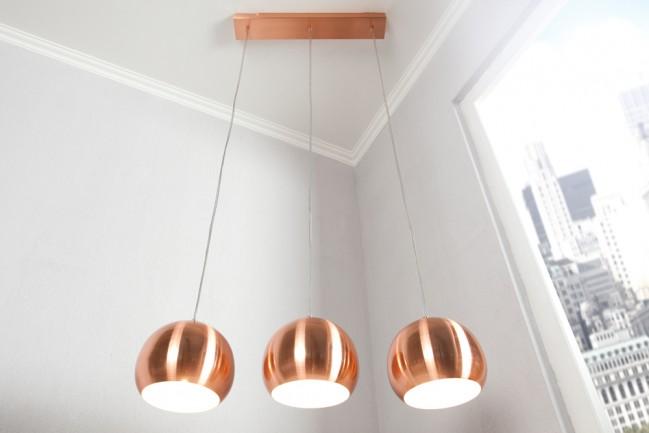 Nowoczesna lampa wisząca Copper Ball