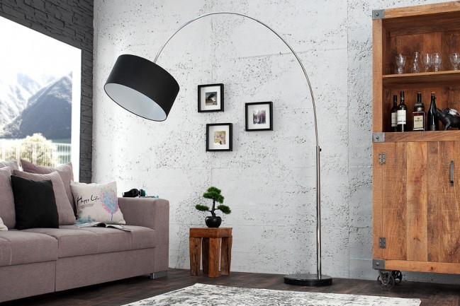 Elegancka lampa podłogowa Lounge Deal czarna