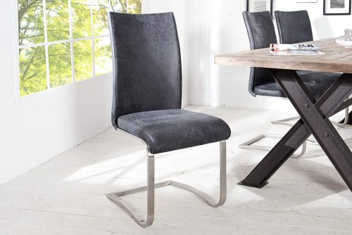 Krzesło na płozach Arco Vintage Gray