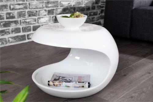 Stolik kawowy Organic Living 45cm biały