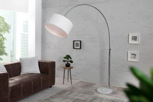 Nowoczesna lampa podłogowa Lounge Deal biała