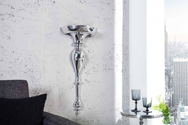 Półka kwietnik Scala 80 cm nowoczesna glamour chrom