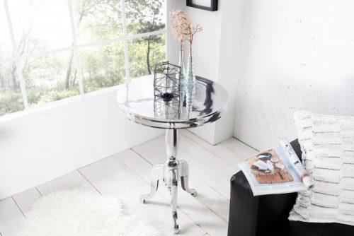Stolik kawowy SAVOY stolik boczny srebrny 55cm