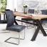 Krzesło z miękkim obiciem oraz oparciami Samson Vintage Gray