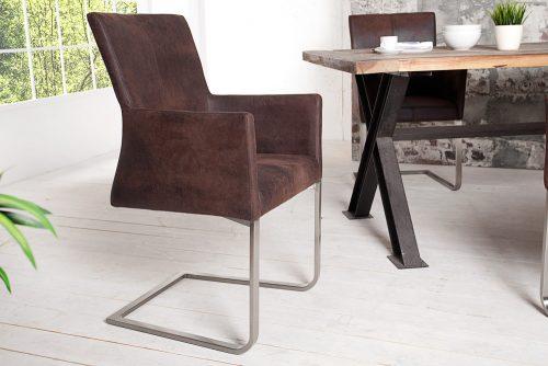 Eleganckie krzesło z miękkim obiciem Samson Dark Coffee