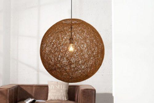 Stylowa lampa wisząca Cocoon L kawa