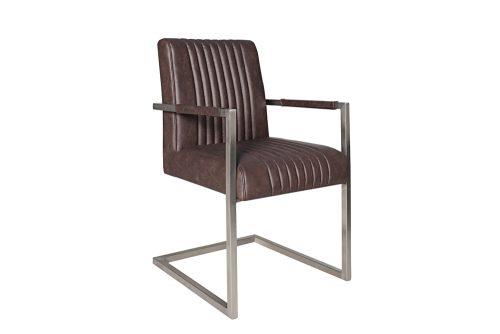 Krzesło na płozach Big Aston Dark Coffee