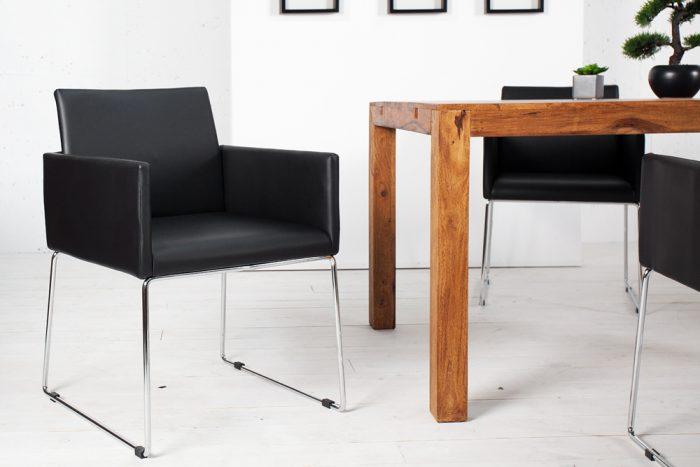 Krzesło z obiciem z mikrofibry Livorno Antique Coffee