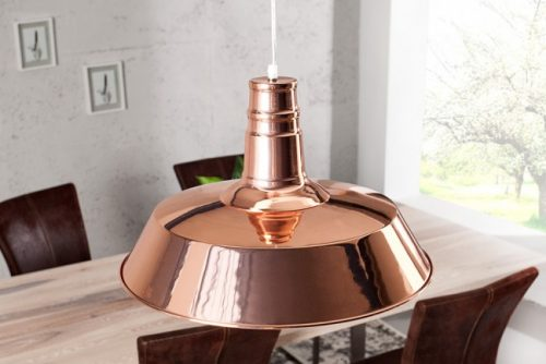Nowoczesna miedziana lampa wisząca Luca
