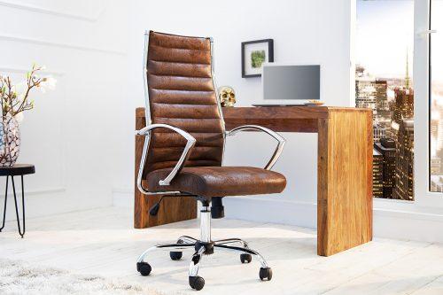 Designerski fotel biurowy Big Deal brąz