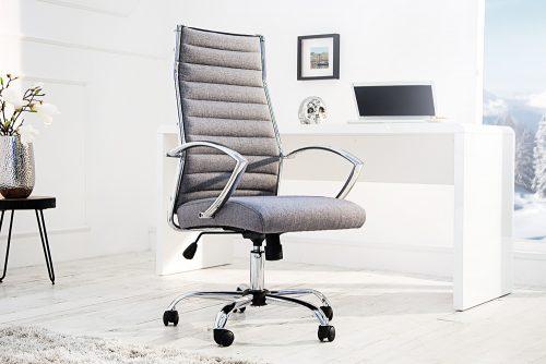 Designerski fotel biurowy Big Deal szary