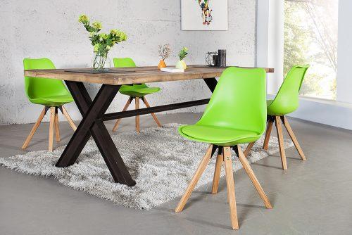 Krzesło w stylu retro Scandinavia Green