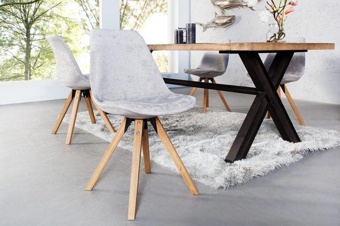 Krzesło w stylu retro Scandinavia Grey