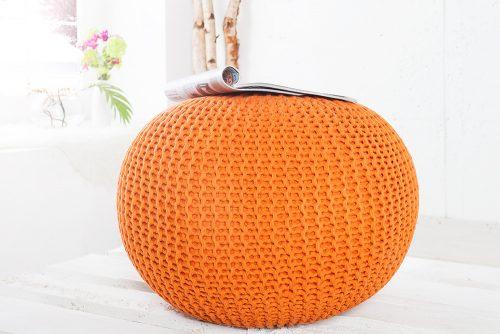 Ekskluzywna pufa Leeds Orange 50 cm